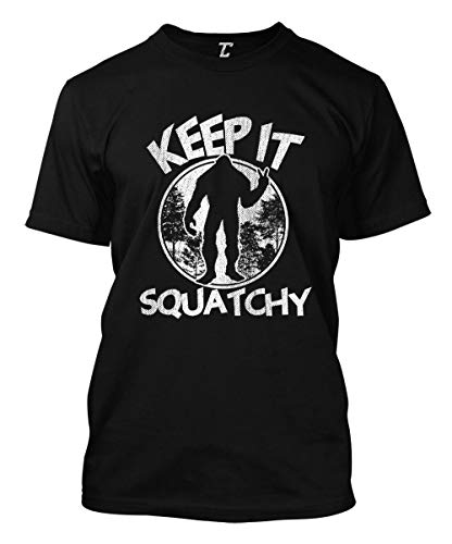 Keep It Squatchy - Bigfoot Sasquatch Men's T-Shirt (Black, Large)