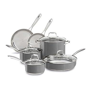 Stainless Steel 10-Piece Cookware Set KCSS10QG Liquid Graphite