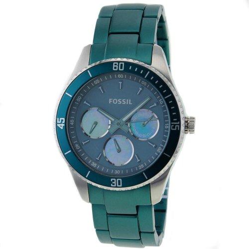 Fossil Stella Aluminum and Stainless Steel Watch Teal: Watches