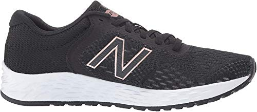 New Balance Women's Fresh Foam Arishi V2 Running Shoe, Black/Rose Gold, 8.5 M US