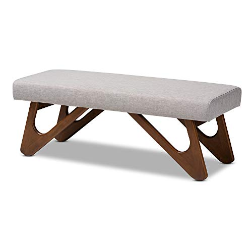 Baxton Studio Benches & Banquettes, One Size, Greyish Beige