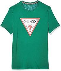 Guess Camiseta Verde Cn SS Original Logo para Hombre