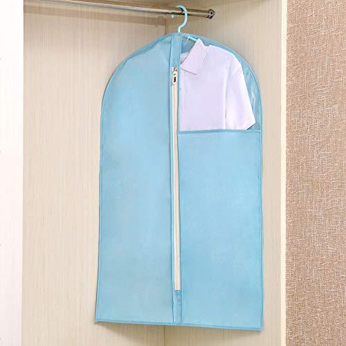 QFFL Sac de compression sous vide Couverture anti-poussière, sac en tissu Oxford Sac de rangement pour vêtements avec cache-poussière Sac de protection (Couleur : Bleu Elégant, taille : 48 * 70CM)