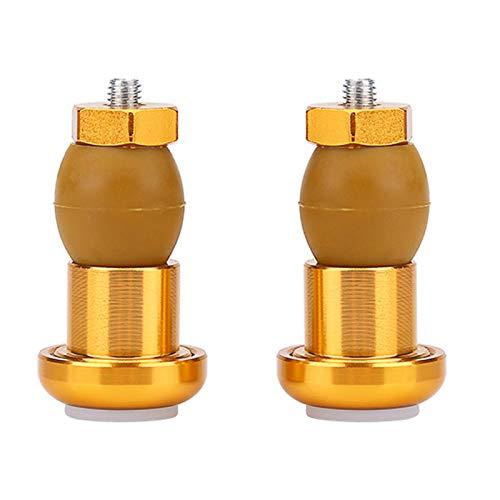 Pwshymi Tapones para Manillar Luz de Seguridad para Bicicleta Puños para Bicicleta Tapones para Barra Tapones para Barra de Ciclismo Luz para tapón Final(Oro)