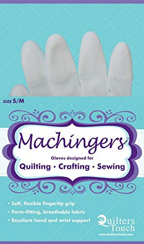 Big Save! Machingers Quilting Gloves for Free-Motion Sewing – Lightweight and Form-Fitting Nylon-K...