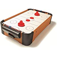 Framan Air Hockey con Aire, de sobremesa. El clásico Juego del Air Hockey de Madera en versión Escritorio