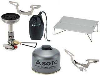 SOTO 4点セット マイクロレギュレーターストーブウィンドマスター パワーガス250トリプルミックス ミニポップアップテーブルフィールドホッパー ゴトク ソト SOD-310 SOD-725T ST-630 SOD-461