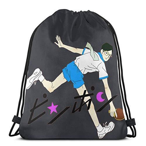 Ping Pong Smile Print Sport Bag Gym Sacpack Mochila con cordón