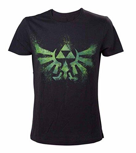 Nintendo T-Shirt -S- Grnes Zelda Logo, schwarz [import allemand]