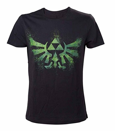 Nintendo T-Shirt -M- Grünes Zelda Logo, schwarz