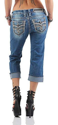 Rock Revival Donna Jeans Capri CYDNEE P200 - blu, 25W