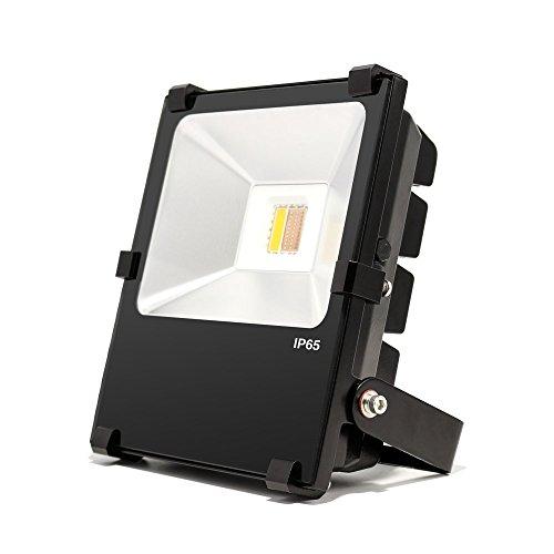 LIGHTEU ® 1x Lampe de jardin 30W sans télécommande, LED original WiFi Couleur RVB plus blanc chaud, intensité variable, changement de couleur avec télécommande, Projecteur d'extérieur,IP65