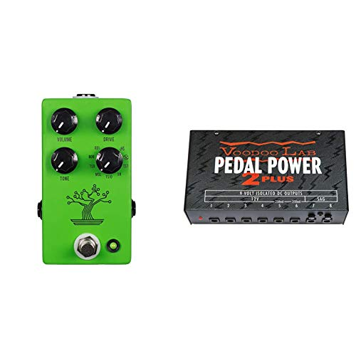 JHS Bonsai 9-Way Screamer Overdrive Guitar Effects Pedal & Voodoo Lab Pedal Power 2 Plus Isolated Power Supply