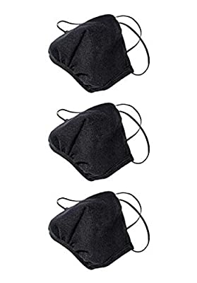 Los Angeles Apparel 3 Pack Face Mask Protective Reusable Unisex Fashion Black [Same Day Shipping] [Made in USA] by Los Angeles Apparel