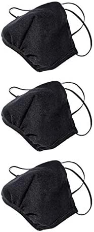 3 PACK Face Mask Reusable Unisex Fashion Black...