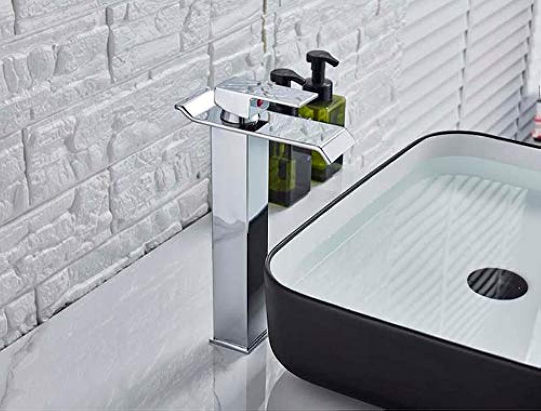 Wasserhahn Chrom Quadrat Wasserfall Waschbecken Wasserhahn Bad Mischbatterie Mit Einhand Kaltwasserhahn Becken Wasserhahn C