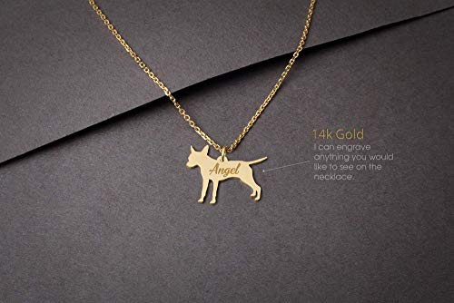 14K Yellow Gold Poodle Dog Pendant on an Adjustable 14K Yellow Gold Chain Necklace