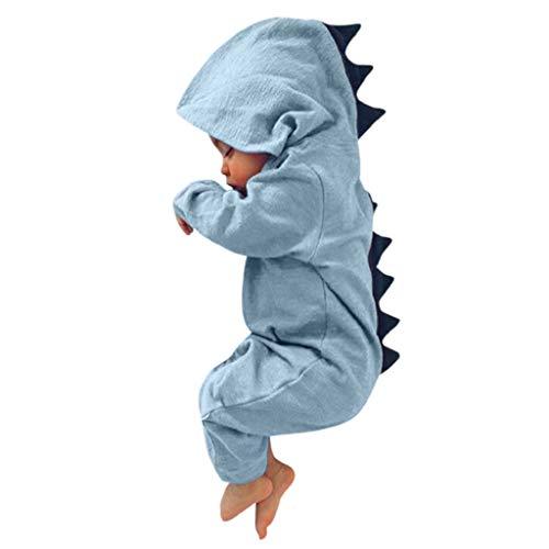 VJGOAL Hoge kwaliteit Pasgeboren zuigeling baby jongen meisje dinosaurus met capuchon rompler overall outfits kleding