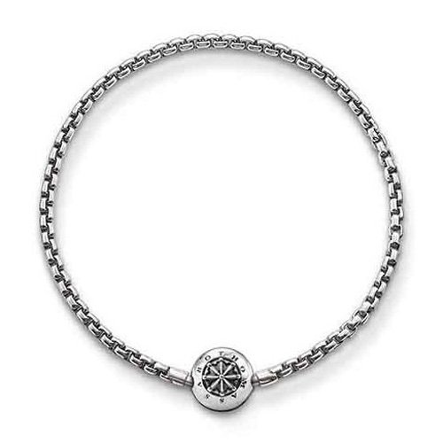 Thomas Sabo Damen Herren-Armband Karma Beads 925 Sterling Silber geschwärzt Länge 16 cm KA0002-001-12-L17