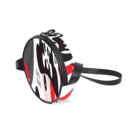 AQQA Umhängetasche Frauen Angelhaken Angelwerkzeug Umhängetasche Organizer Tasche mit verstellbarem Schultergurt Modekreis Handy Geldbörse Umhängetasche für Teenager-Mädchen und Frauen