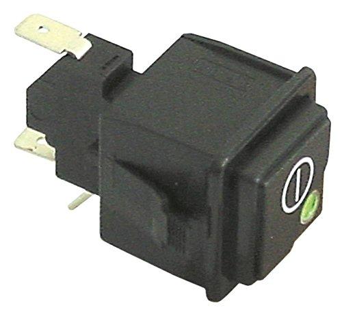 Hoonved - Interruptor de presión para lavavajillas CM48, T3-80, T5-80, T4-80, CM43, NK43 con disco giratorio de 250 V, 1CO verde/rojo, negro, 1 polo
