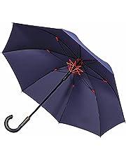 【前代未聞の撥水性能大突破】Vialifer長傘 メンズ レディース 日傘 完全遮光 100 傘 超撥水 260T高強度グラスファイバー Teflon加工 軽量 耐風 丈夫 大きい 自動開けステッキ傘 紳士傘 晴雨兼用傘 収納ポーチ付き