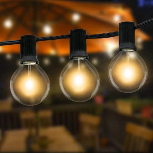 Lichterkette Außen,Litogo 10.5m G40 Lichterkette Glühbirnen Außen Strom mit 27 Große LED Birnen, Wasserdichte Retro Outdoor Lichterkette Balkon deko für Garten, Terrasse, Partys, Hochzeiten-Warmweiß