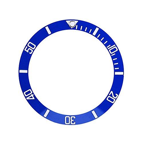 Ceramic Watch Bezel Insert Zahlen Marker Armbanduhr Loop Ersatz Classic Ring Armband, 4 Farben (Blau)