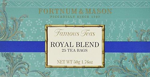 Fortnum and Mason British Tea, Royal Blend 25 Count Tea Bags (1 Pack)