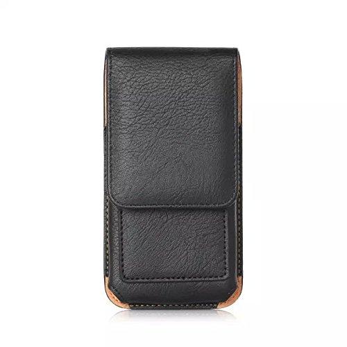 generia blu Advance 5.0Funda para teléfono móvil de rotación vertical Pouch sintética Holster Teléfono Celular Negro