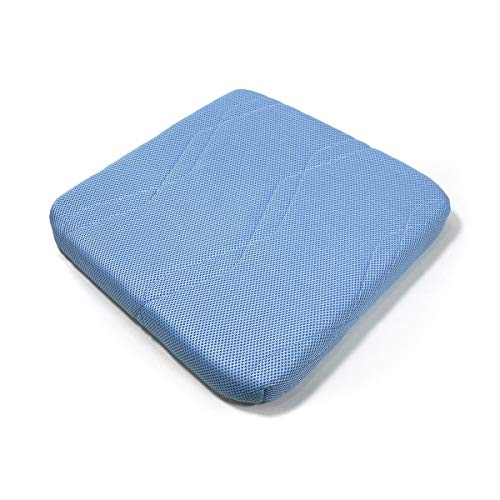 【タイムセール実施中!】tobest 90%が空気で出来ている【エアネスト/シートクッション】高反発 3次元構造 腰楽 蒸れない快適な座り心地 通気性 洗える 専用カバー付き 5cm厚 サックスブルー