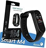 Vivo Compatible Smart Fitness Band 4 Activity Tracker   Fitband with OLED Heart Rate Monitor, Health Activity, Smart Bracelet Wristband - Black