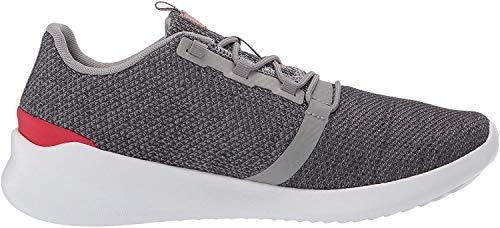 New Balance Men's Cush+ District Run V1 Shoe, Grey/Energy Red, 7 M US