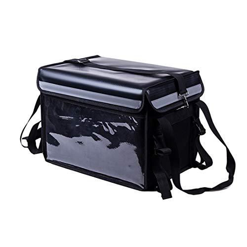 Nevera Portatil Hombres y Mujeres, Bolsa Térmica Porta Alimentos Comida Lunch Box Hermética Plegable para Trabajo Oficina Playa Viaje Escuela Acampar Picnic para Adultos y Niños, 40L/44L, negro