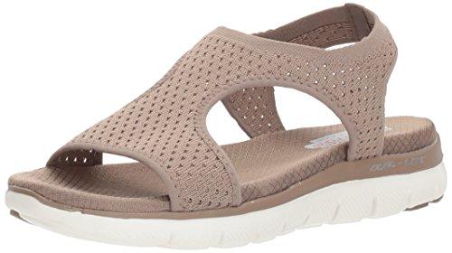 Skechers Flex Appeal 2.0 Mujer - Deja Vu Sandalia, beige (Marrón topo), 39 EU