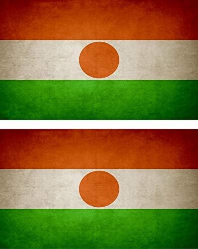 Akachafactory 2x Sticker vlag vinyl land vintage RN niger