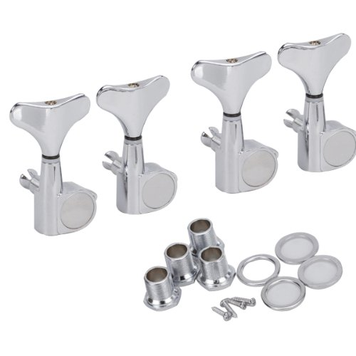 4R Chrome Sealed Tuners Machine Heads Tuning Pegs Per Bassi A 4 Corde