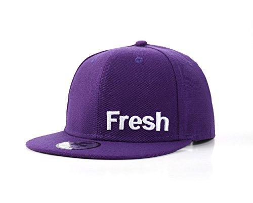 """UNDERGROUND KULTURE """"Fresh Hip Hop Casquette de Baseball Réglable (Purple Snapback)"""