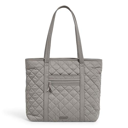 Vera Bradley Women's Performance Twill Vera Tote Totes, Tranquil Gray, One Size