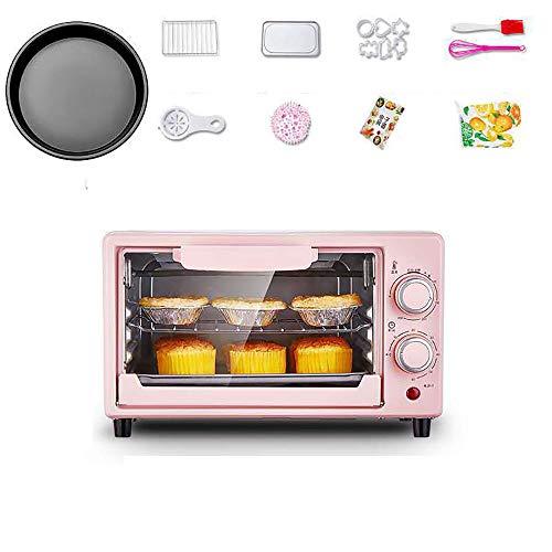 lonelymen Mini Cocina y Parrilla eléctrica de 12 litros, Ideal para Asar, Hornear, Asar y recalentar con Bandeja de Aluminio para Hornear