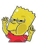 Bart Simpson Funny Hitting Glass Vinyl Decal Sticker by Universal Tagline