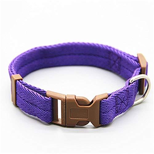 HNZZ Correa de Perro Corbata de Lazo Ajustable Collar de Corbata con Correa de Perro Collar de Perro como Regalo for Cachorro Gato Accesorios for Mascotas (Color : Purple, Size : L)