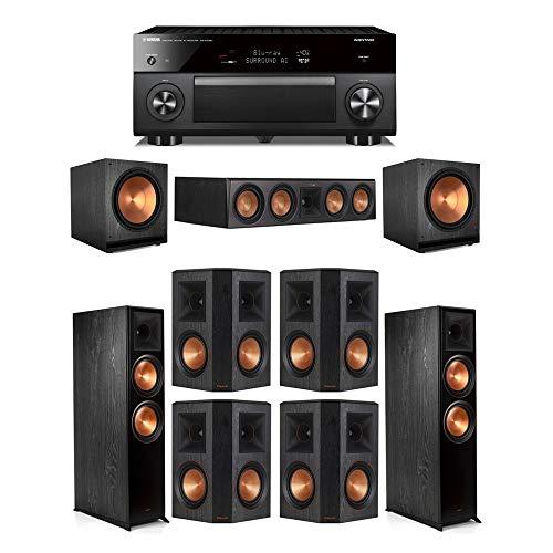 Cheapest Price! Klipsch7.2.2 Ebony System - 2 RP-8060FA,1 RP-504C,4 RP-502S,2 SPL-150,1 RX-A3080 R...