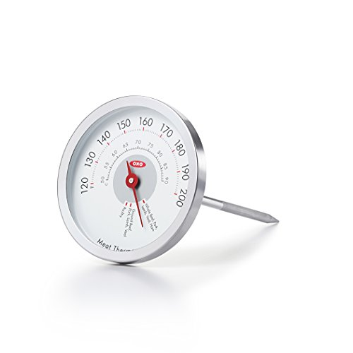 OXO Good Grips Chef's Precision Analog Leave-In Meat Thermometer,Silver,1 EA