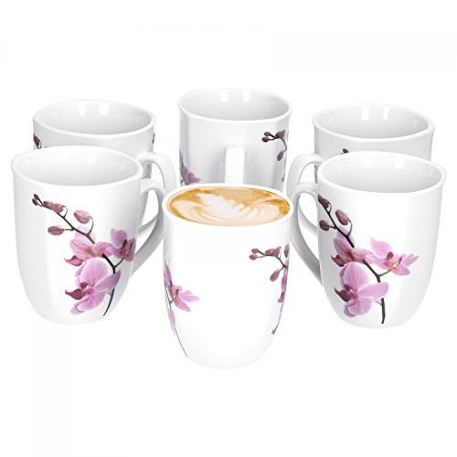 6er Set Kaffeebecher Kyoto Orchidee 33cl