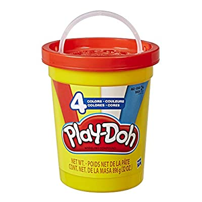 Play-Doh 2-Lb. Bulk Super Can of Non-Toxic Modeling Compound with 4 Classic Colors - Red, Blue, Yellow, & White from Hasbro