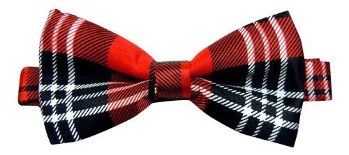 Nœud papillon pour homme motif tartan écossais rouge papillon