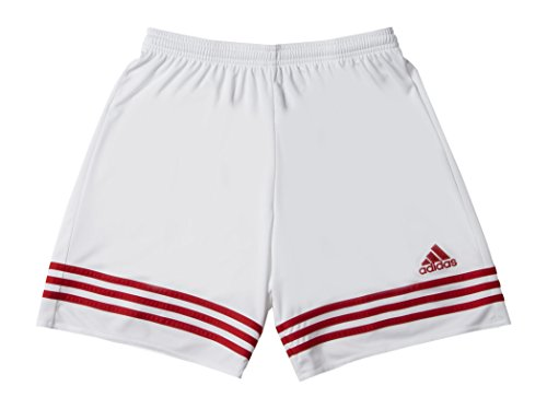 Adidas Entrada 14, Pantaloncini Bambino, Multicolore (Bianco/Rosso), 152