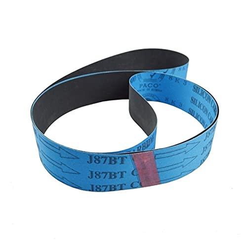 Cinturón de lijado de carburo de silicio de 2 piezas Papel de lija flexible Banda de pulido para aluminio de cobre de jade cristal de madera YUAN CHUANG (Grit : P100, Size : 915x100mm)