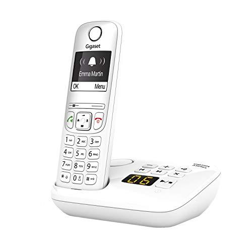 Gigaset AS690A - Schnurloses Telefon mit Anrufbeantworter - kontrastreiches Display mit Jumbomodus - brillante Audioqualität - einstellbare Klangprofile - Freisprechfunktion - Anrufschutz, weiß